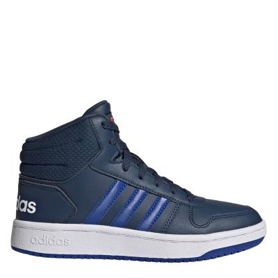 Adidasi inalti adidas Hoops Mid- pentru baietei bleumarin albastru
