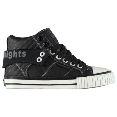 Adidasi inalti British Knights Roco PU Lace pentru Copii negru alb