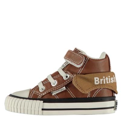 Adidasi inalti British Knights Roco PU pentru Bebelusi maro negru