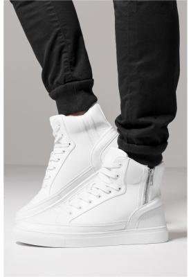 Adidasi inalti cu fermoar alb Urban Classics