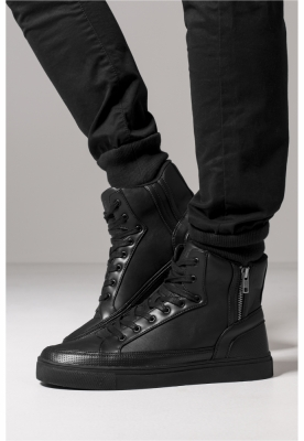 Adidasi inalti cu fermoar negru Urban Classics