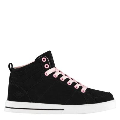 Adidasi inalti Lee Cooper Akron Juniors negru roz