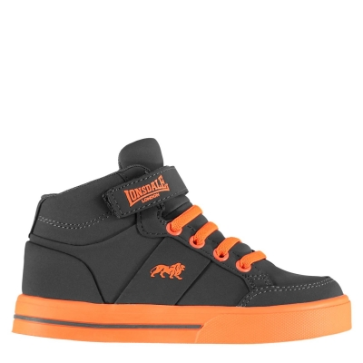 Adidasi inalti Lonsdale Canons pentru Copii gri portocaliu
