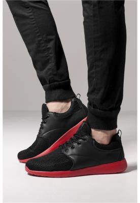 Adidasi Light Runner negru Urban Classics rosu foc