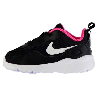 Adidasi sport Nike LD Stargazer Runner pentru fete pentru Bebelusi negru alb roz
