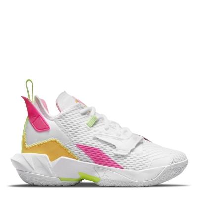 Adidasi pentru baschet Air Jordan Air Jordan WhyNot? pentru baietei alb galben roz
