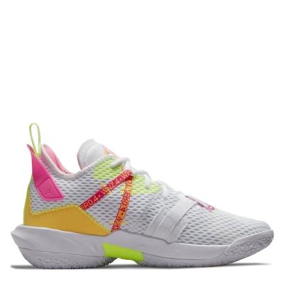 Adidasi pentru Baschet Air Jordan Why Not? Zer0.4 Family alb galben roz