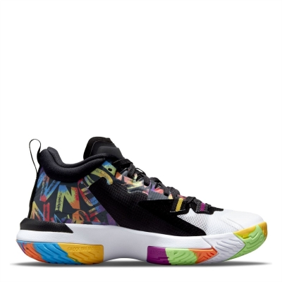 Adidasi pentru Baschet Air Jordan Zion 1 pentru copii negru alb rosu