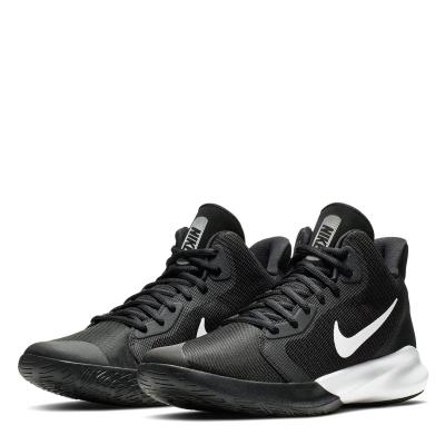 Adidasi pentru Baschet Nike Precision 3 pentru Barbati negru alb