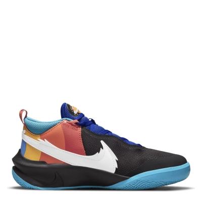 Adidasi pentru baschet Nike Team Hustle D 10 SE X Space Jam pentru baietei negru alb albastru