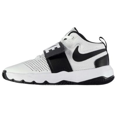 Adidasi pentru Baschet Nike Team Hustle D8 pentru baietei alb negru