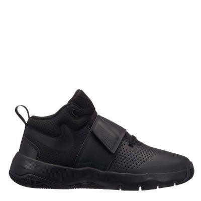 Adidasi pentru Baschet Nike Team Hustle D8 pentru baietei negru