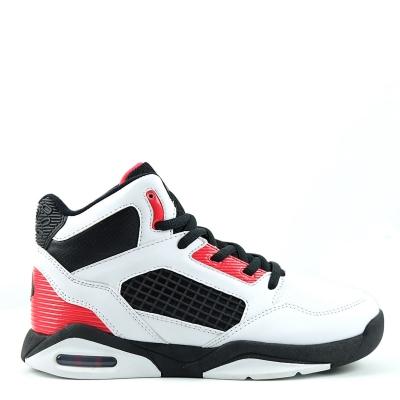 Adidasi pentru baschet SHAQ Bankshot Juniors alb negru rosu