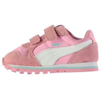Adidasi sport Puma ST Runner nailon pentru fete pentru Bebelusi roz alb
