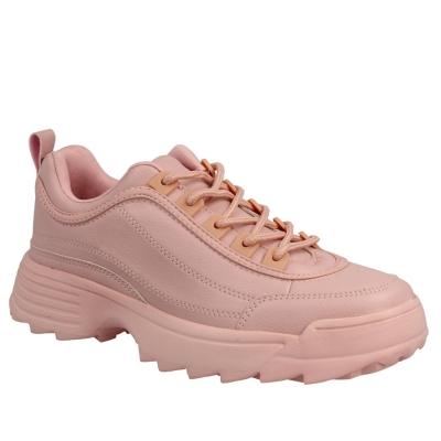 Adidasi Reflex PU Grain cu siret roz