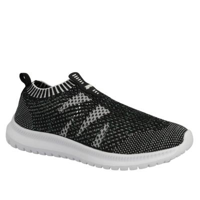 Adidasi Reflex Slip On tricot negru alb