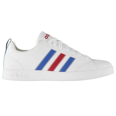 Adidasi sport adidas Advantage pentru Barbati alb albastru rosu