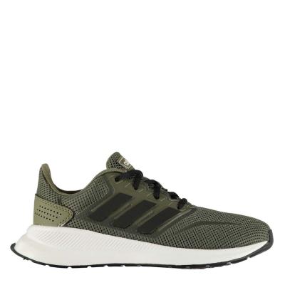 Adidasi sport adidas Falcon pentru baietei kaki negru alb