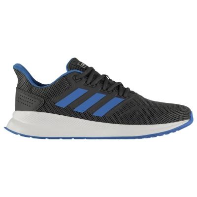Adidasi alergare adidas Runfalcon clasic pentru Barbati gri inchis albastru alb