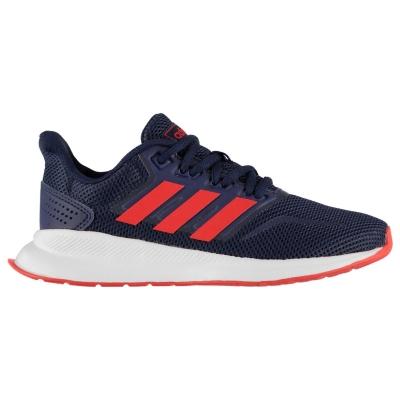 Adidasi sport adidas Falcon pentru Copii bleumarin rosu alb