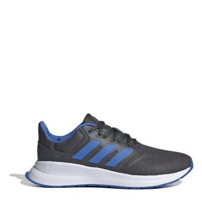 Adidasi sport adidas Falcon pentru Copii gri inchis albastru alb