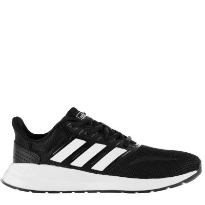 Adidasi sport adidas Falcon pentru Copii negru alb