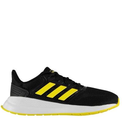 Adidasi sport adidas Falcon pentru Copii negru galben alb