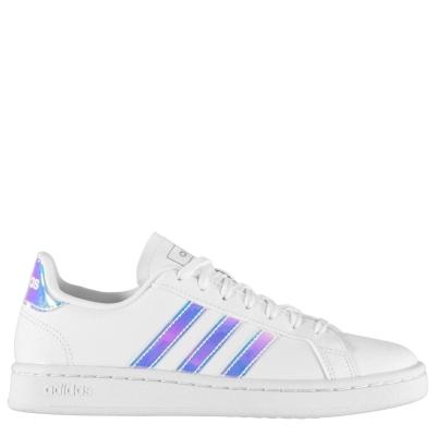 Adidasi sport adidas Grand Court pentru femei alb iridescent