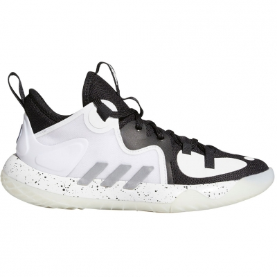 Adidasi sport adidas Harden Stepback 2 J alb And negru FZ1545 pentru Copii