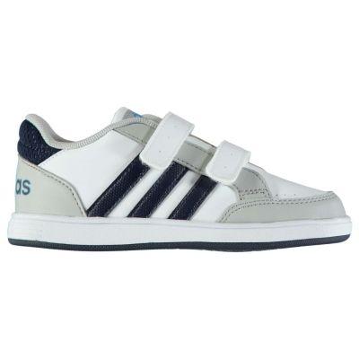 Adidasi sport adidas Hoops CMF pentru baieti pentru Bebelusi alb bleumarin gri