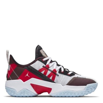 Adidasi sport Air Jordan One Take II pentru baietei alb rosu