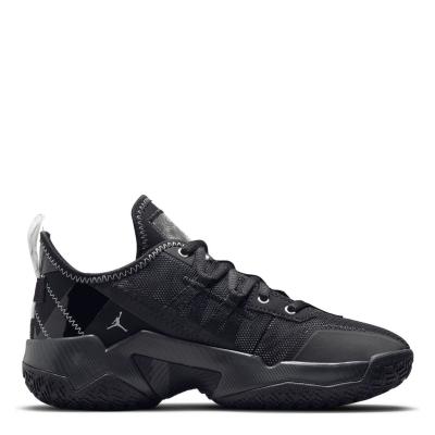 Adidasi sport Air Jordan One Take II pentru baietei negru argintiu