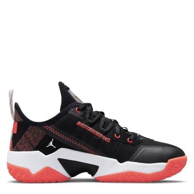 Adidasi sport Air Jordan One Take II pentru baietei negru rosu alb