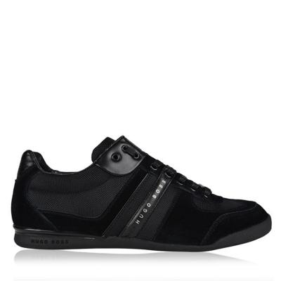 Adidasi sport BOSS Akeen contrast Panel negru