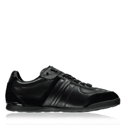 Adidasi sport BOSS Aki din piele Panelled negru