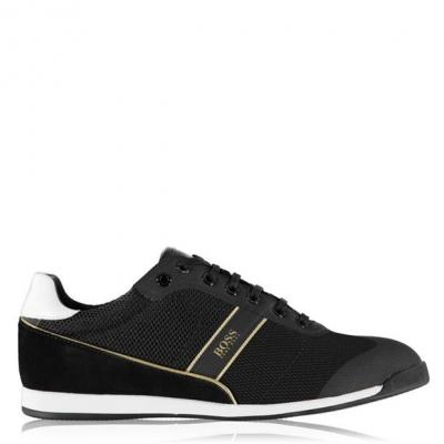 Adidasi sport Boss Boss Glaze plasa negru