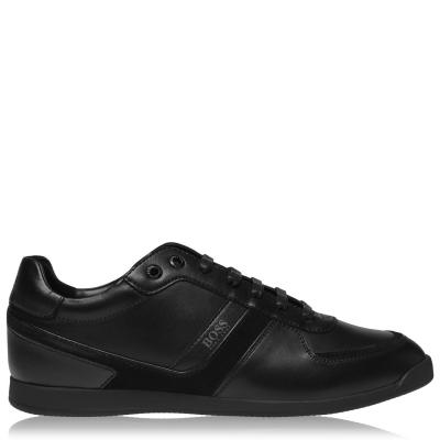 Adidasi sport BOSS Glaze din piele negru