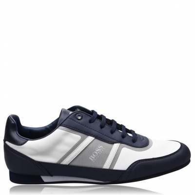 Adidasi sport BOSS Lighter Low nailon Synthetic alb bleumarin
