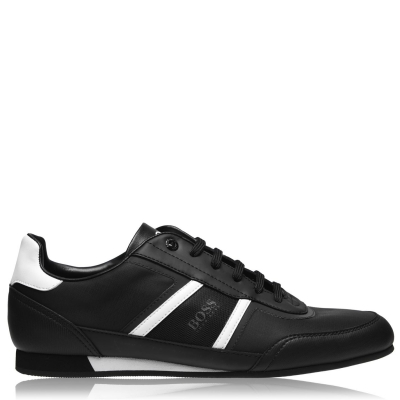 Adidasi sport BOSS Lighter Low nailon Synthetic negru alb