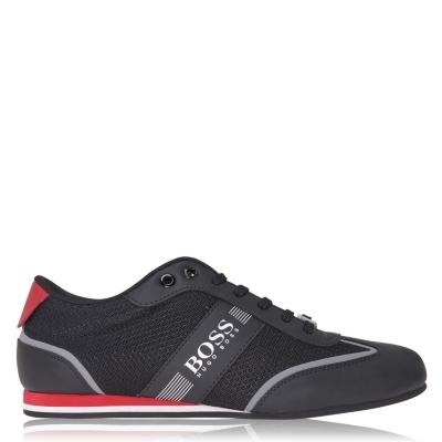 Adidasi sport BOSS Lighter Tech Low Top negru rosu