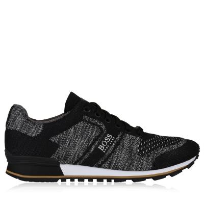 Adidasi sport BOSS Multi Pattern tricot Runner gri carbune