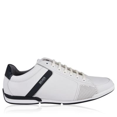 Adidasi sport BOSS Saturn din piele Low Top alb