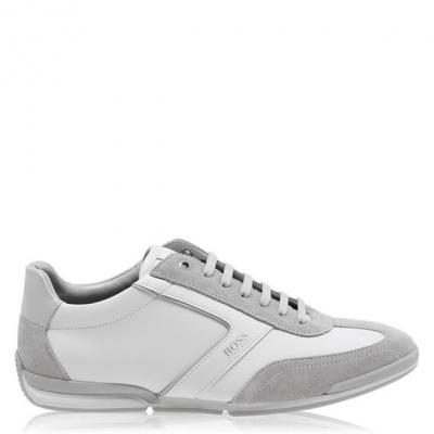 Adidasi sport Boss Saturn Low Top alb