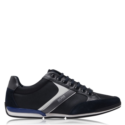 Adidasi sport BOSS Saturn Low Top bleumarin alb