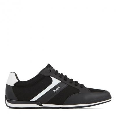Adidasi sport BOSS Saturn Low Top negru alb