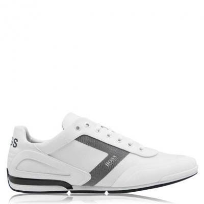Adidasi sport Boss Saturn PU alb