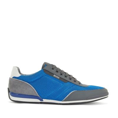 Adidasi sport Boss Saturn Sport plasa gri albastru