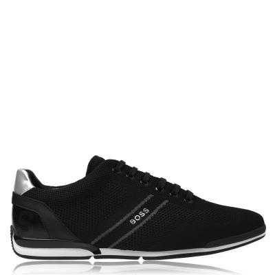 Adidasi sport BOSS Saturn tricot Low negru