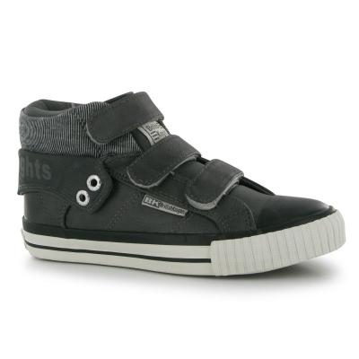Adidasi sport British Knights Roco pentru Copii inchis gri negru