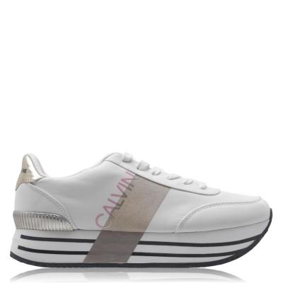 Adidasi sport Calvin Klein alb